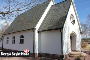 Fasadrenovering-Våmhus-Kyrka